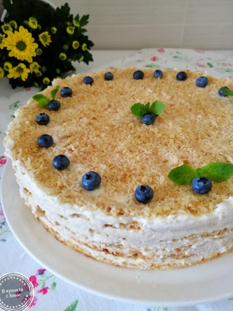 Френска селска торта с боровинки от https://inthebeniskitchen.com/