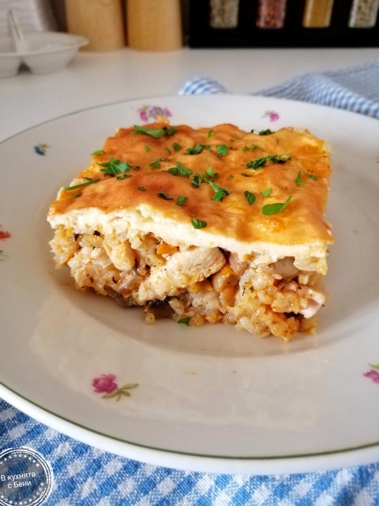 Ориз с гъби и пилешко от https://inthebeniskitchen.com/