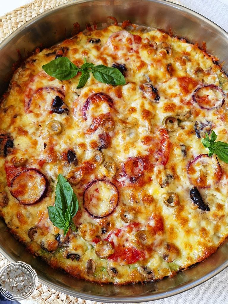 Пица от тиквички от https://inthebeniskitchen.com/