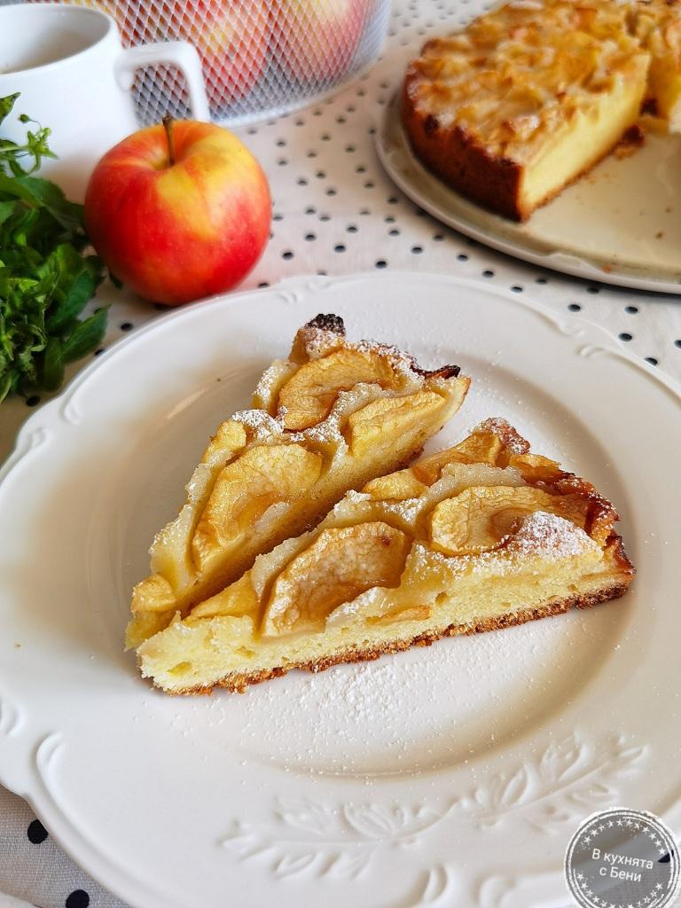 Маслен ябълков сладкиш от https://inthebeniskitchen.com/